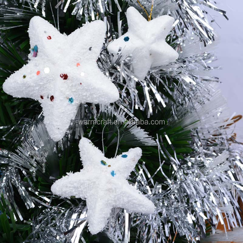Wholesale Christmas Tree Ornaments Xmas Decorations White Foam Star