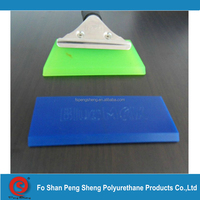"green 5"" installation squeegee with handle for flat glass applications"