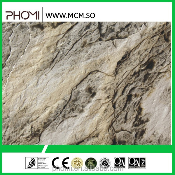 yellow natural stone interior faux stone wall panel
