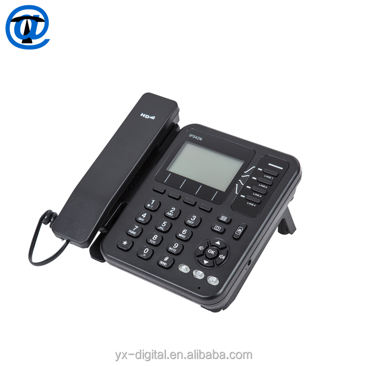 4 Lines WiFi VoIP Phone Wireless IP Phone Enterprise HD Wireless SIP Phone