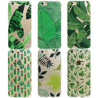 Green Plants Desert Cactus Pattern Case Cover For iphone 6 Plus 6s Plus 7 7plusClear TPU Cell Phone Cases For iphone Capa Para