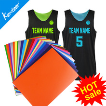 Kenteer A4 PU Heat Transfer Vinyl, Heat Transfer Film for Sport T-shirt