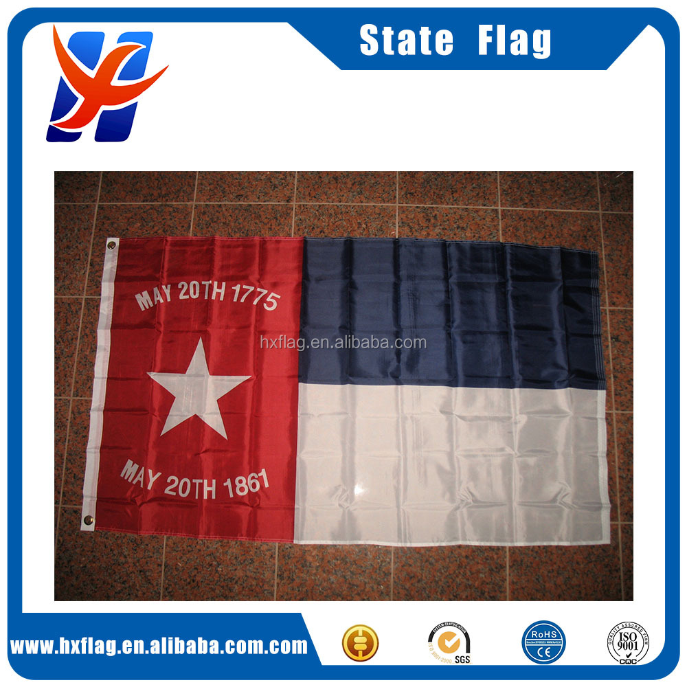 Wholesale 3x5 Embroidered North Carolina NC Republic 210D Sewn Nylon Flag 3'x5'