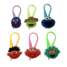 Sesame Street Luminescent Colorful Silicone Snap Lock Zipper Pulls