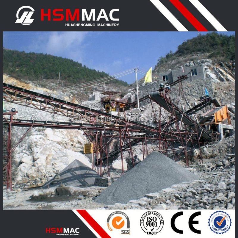 HSM Stone Processing Calcium Carbonate Stone Crushing Production Line