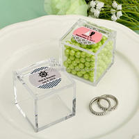 clear mini Acrylic Favor Candy Box/ Candy storage