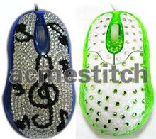 New style rhinestone sticker mouse