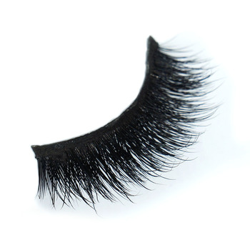 100% luxury 3D mink fur strip lashes by OEM packaging