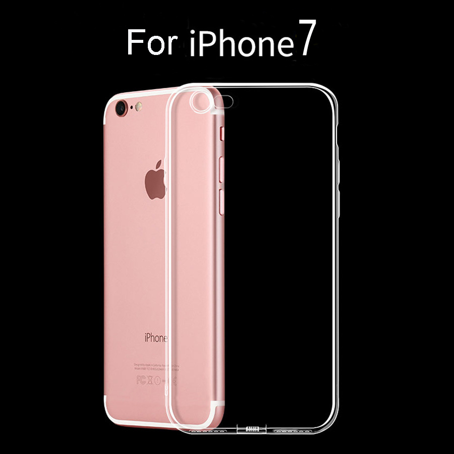 Hot Mobile Phone Accessories Case For iPhone 7, Ultra Thin Clear Crystal Transparent TPU Case Cover For iphone 7 case
