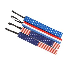 Custom Printed National Flag Headbands French Flag American Flag Ribbon Headbands Adjustable Elastic Headbands F102