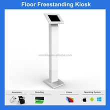 Tablet floor stand freestanding kiosk tablet stand with lock