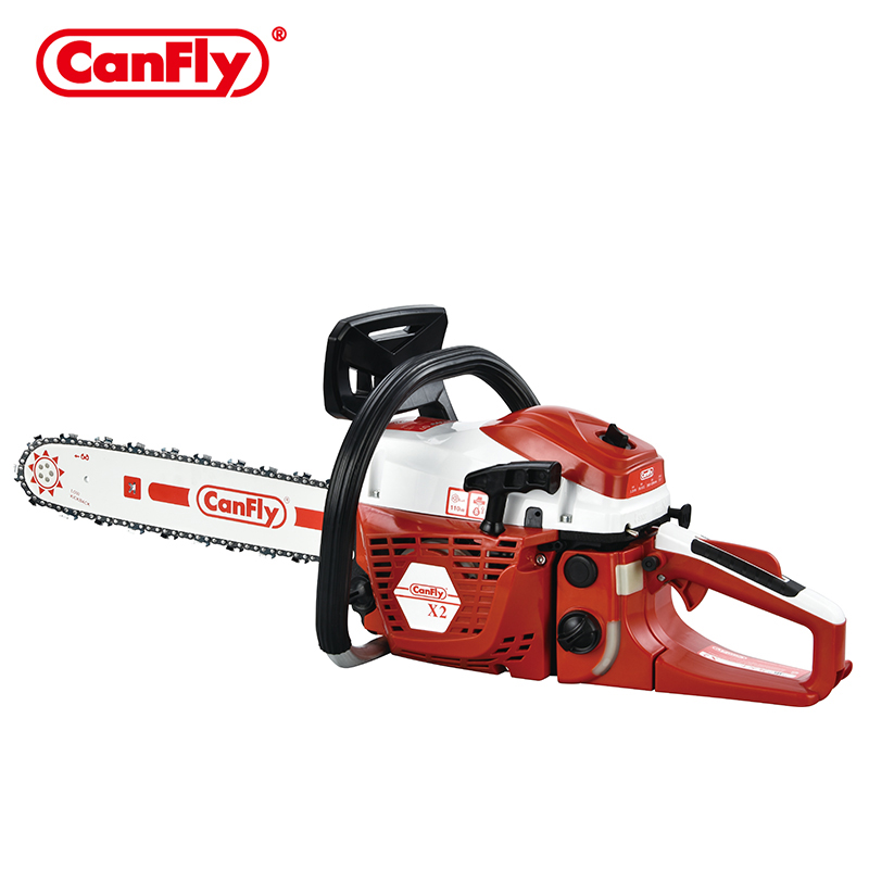 "CANFLY brand X2 58CC gasoline chainsaw with 18""/20""/22"" bar and saw chain"
