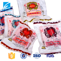 Strong freeze resistance retort pouch for meat packaging