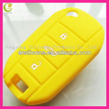Soft silicone rubber for peugeot car key shell,silicone key jacket for ford/buick/toyoda/kia