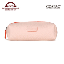 Promotional trade assurance plain color trendy PVC plastic fashion stationary pencil cases