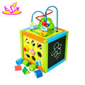 New fashion multi 5 cube wooden kids activity toys for education W11B180