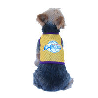 Dog Yellow Los Angeles Lakers Mesh Jersey pet summer clothes