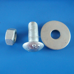 4.6 grade M16X27/M16X45 Hot Dip Galvanized guardrail bolt with ear