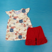 2017 yawoo new designs july 4th national day clothing baby boutique clothing