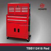 wholesale moving customized metal roller steel tool boxes in red