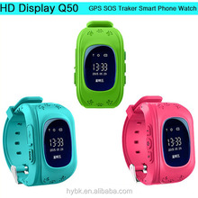 Kids GPS Tracker Watch Q50 Tracking Smart Watch GPS Security With SIM Card Slot SOS