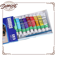 Hot selling12 colors oil color paint set tube , professional artist oil resistant paints set for male nude oil painting