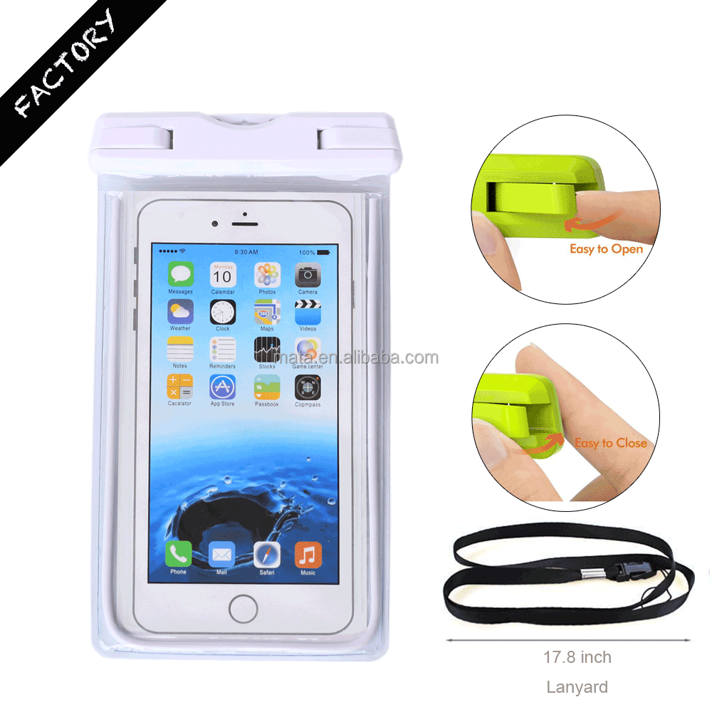 New Arrival Waterproof Protective cell Phone Cover Case for iPhone for Samsung with IPX8 Certificated