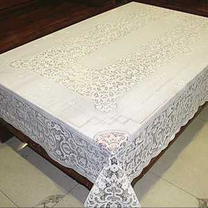 152x228cm Hot Sale PVC lace Table Cloth Cover in Piece