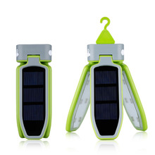 Portable Collapsible LED Light USB &Solar Rechargeable Lantern Waterproof for Traveling/Camping/Hiking