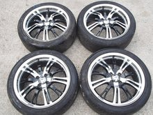 USED JDM 17x7J 4x100 +42 Jazz Fit GD GE GE6 GE8 M7 Spirit Racing Wheels Rims