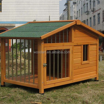 Good design Stainless Steel Extra Large Wooden Dog House Outdoor Dog Kennel And Cages