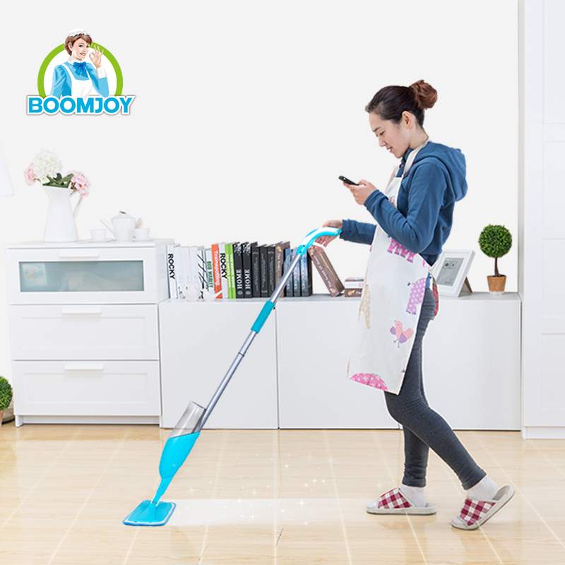 FLEXIBLE SWIVEL MOP HEAD MICROMOLECULAR REFINED SPOUT INSTANT MISTING MICROFIBER MAGIC EASY CLEANING MOP SPRAY MOP