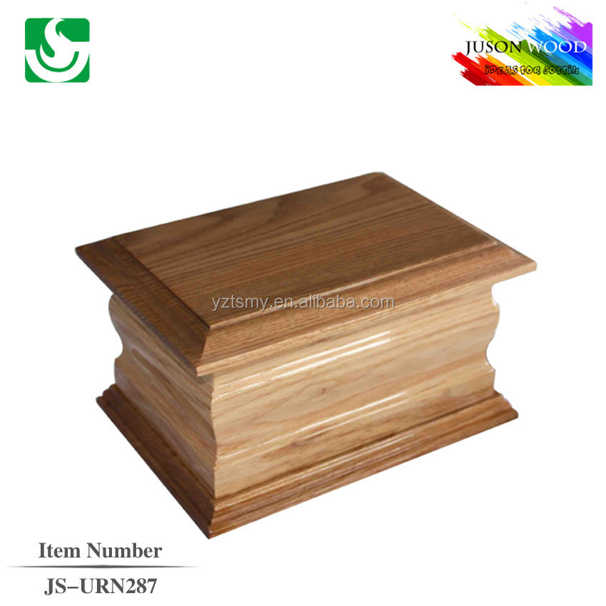 Hot sale wooden traditional adult urns for ashes