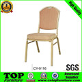 Stackable Brown Banquet Chairs with Steel CY-9116