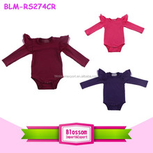 Toddler Flutter Baby Ruffle Rompers Infant Cotton Tulle Wing Onesie Wholesale Baby Flutter Sleeve Bodysuit