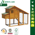 Wooden Chicken Coop with Ladder and Outdoor Run