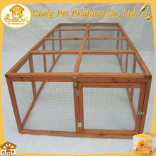 Outdoor Detachable Wooden Rabbit Hutch With Wire Run Pet Cages