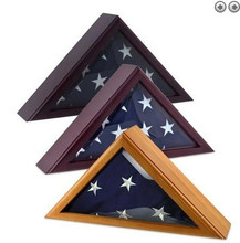 popular custom wooden flag box,flag case