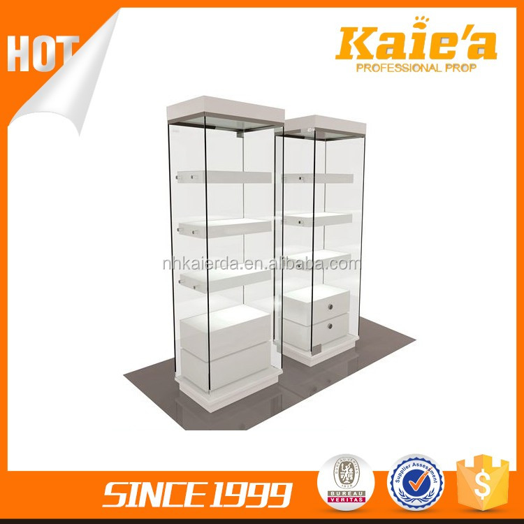 temper glass jewelry counter plexiglass stand