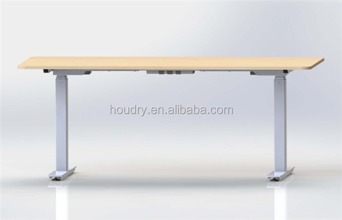 Manual adjustable table standing desk handset with memory