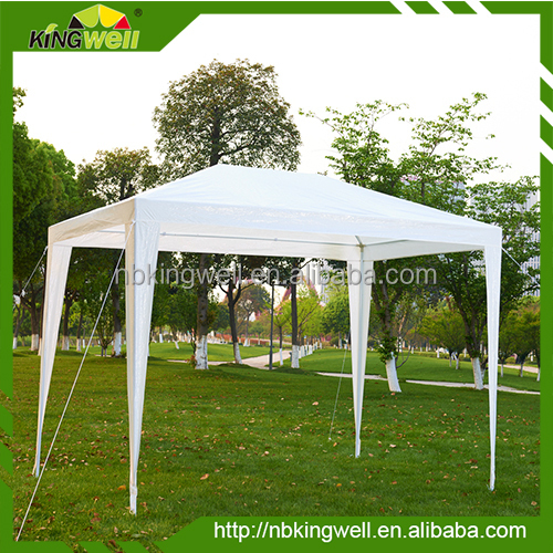 3X3M simple PE garden gazebo/fixed pavilion