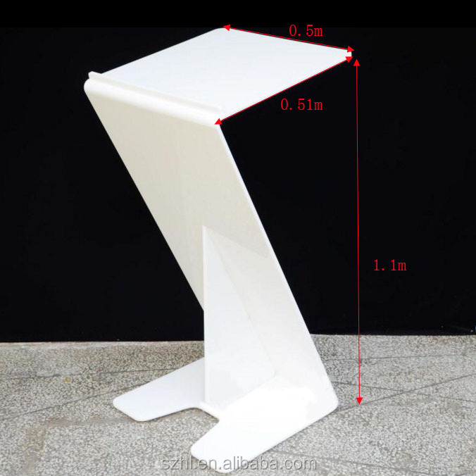White acrylic wedding podium,acrylic church podium