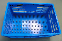 Plastic folding crate without lid