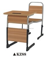 Adjustable height desks and chairs for children, Wooden school furniture for sale KZ88