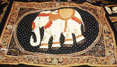 Fabric Elephant Curtain Design 001