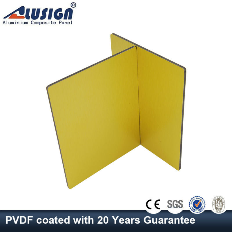 Alusign yellow color beckers paint exterior aluminum wall cladding