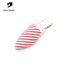 China simple design ladies fashion fancy flat sandal with slipper style