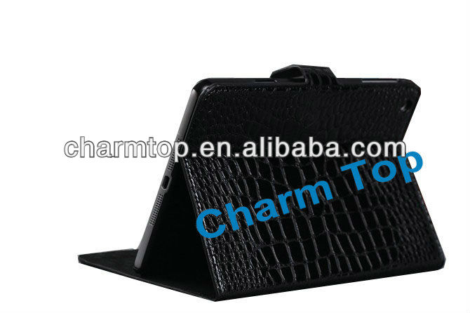 Crocodile Style Stand Leather Cover For iPad Mini