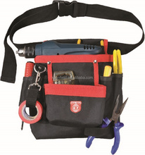 Electrician Rigid 600D/Pvc Tool Wasit Pouch Hanging 7 Pockets Tool Belt Bag