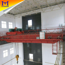China heavy duty double girder overhead crane with trolley manufacturer